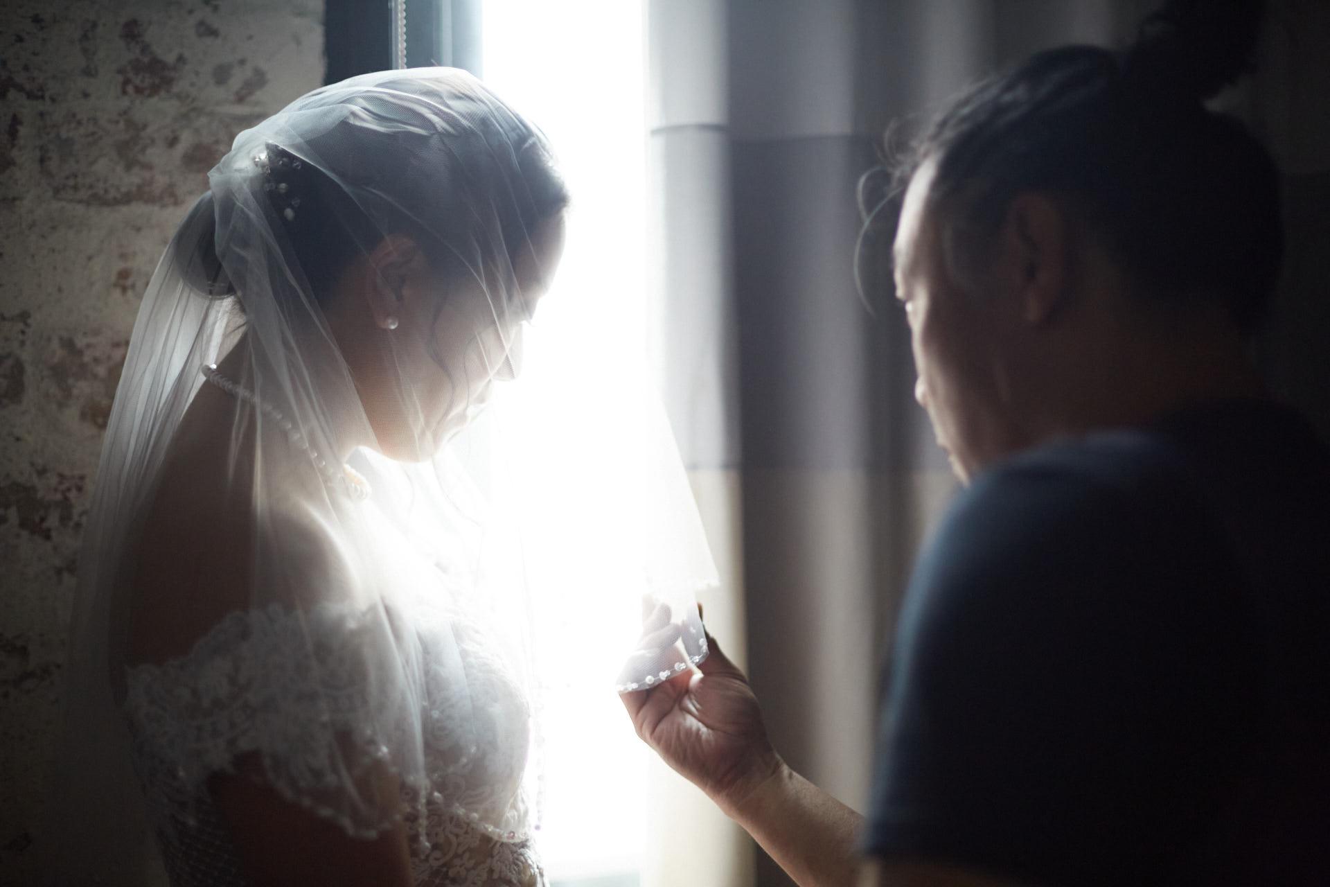 Franky Tsang working on a wedding